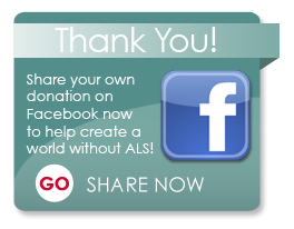 Share your donation on Facebook