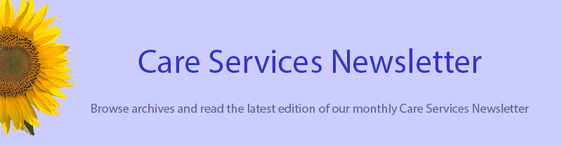 Care Services Newsletter Banner