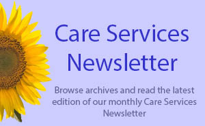 Care Services Newsletter Button
