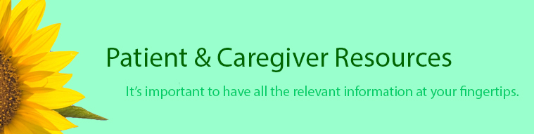 Patient and Caregiver Resources banner